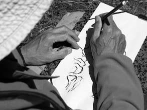Photo: travail sur le motif