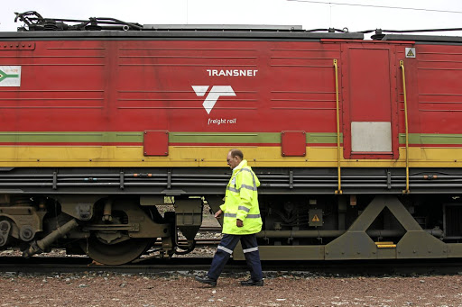A locomotive belonging to Transnet. Picture: BLOOMBERG/OAKBAY RESOURCES & ENERGY