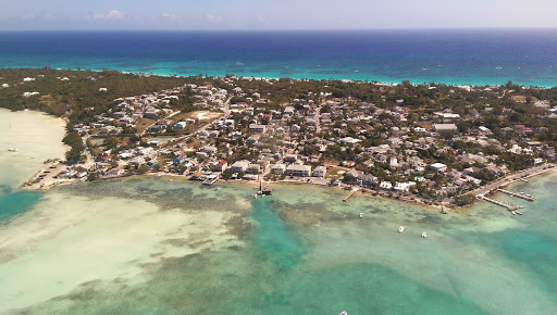 Aerial of Harbour Island in North Eleuthera in the Bahamas.