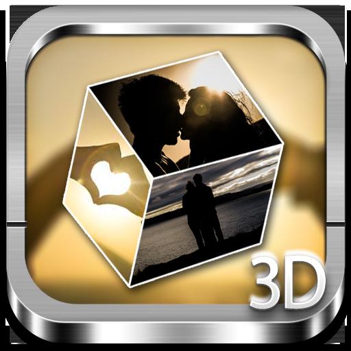 Romantic 3D cube Live WP