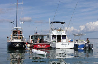 Photo: Our gaggle of boats