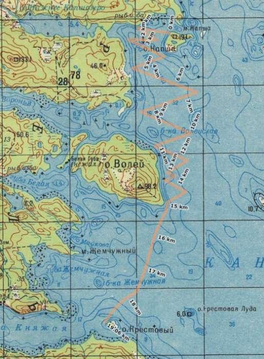 По Кандалакшскому заливу на Меве