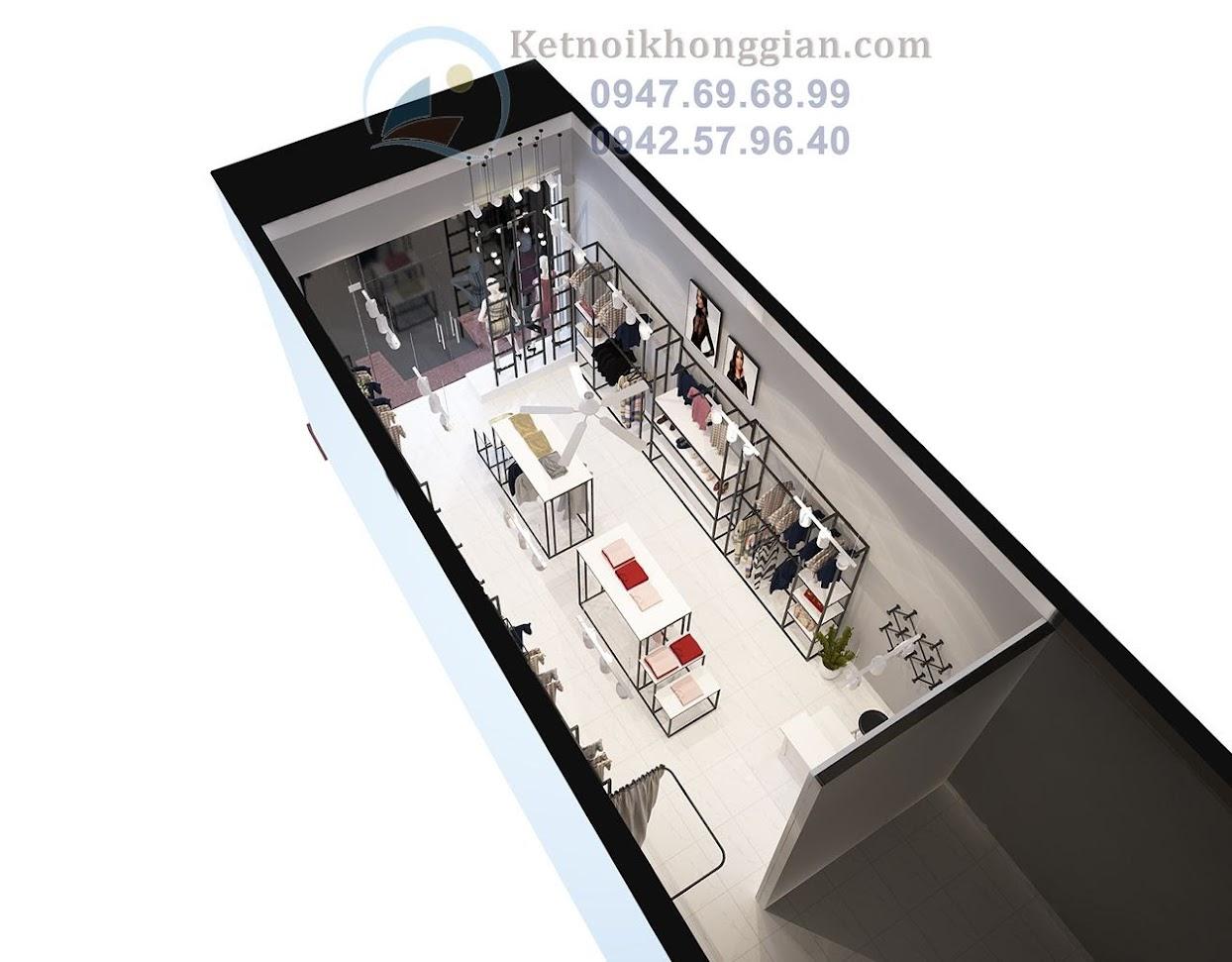thiết kế shop thời trang công sở chất lượng