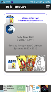 Daily Tarot- screenshot thumbnail