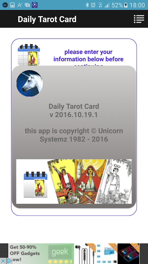 Daily Tarot- screenshot