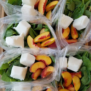 Peaches n' Cream Green Smoothie Prep Packs.