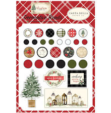Carta Bella Decorative Brads 25/Pkg - Christmas UTGÅENDE