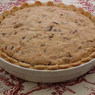 Chocolate Chip Pie With Bourbon Cream