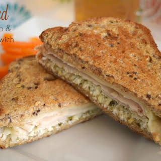 Grilled Turkey Pesto and Swiss Sandwich.
