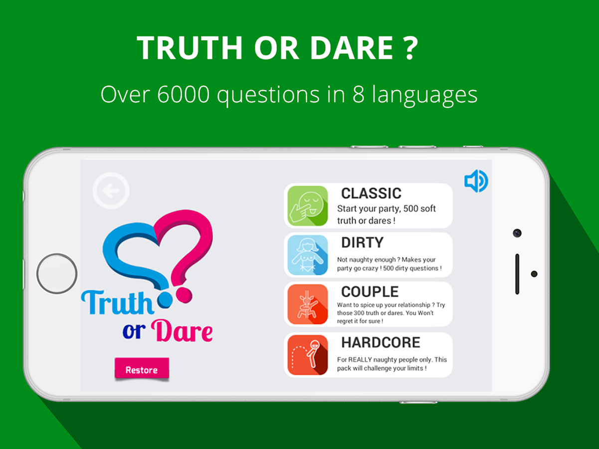 Truth or Dare 2018 ❤️ Couple or Friends Party Game- screenshot
