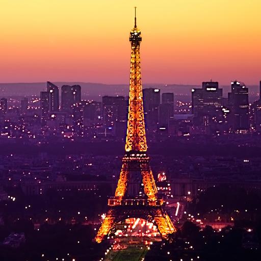 Eiffel Tower Sundown Theme