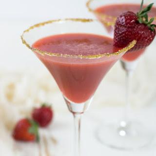 Honey Gin Strawberry Ginger Cocktails.