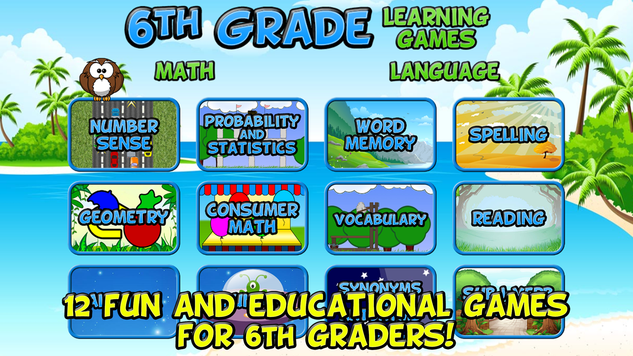 Sixth Grade Learning Games- screenshot