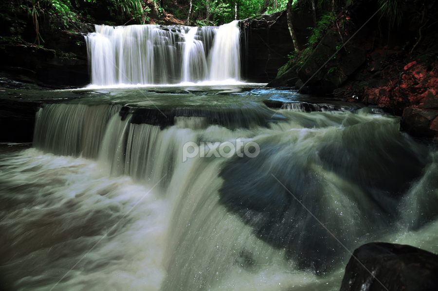 Waterfall by Wira Agt - Landscapes Waterscapes ( de, pal, jun, air, ter )