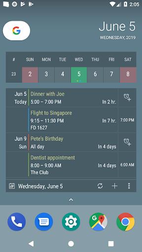 Screenshot for Calendar Widget KEY in United States Play Store