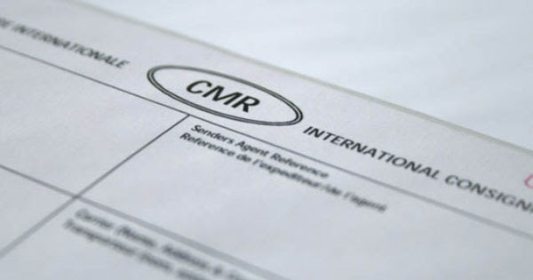 Автомобильная накладная CMR