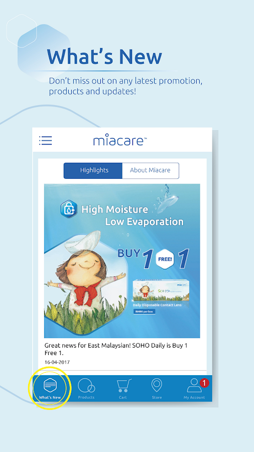 miacare - Contact Lenses- screenshot
