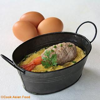 Steamed Egg Custard - Thai Recipe - Kai Dtun