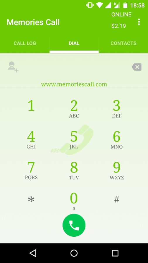 Memories Call- screenshot