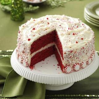Peppermint Red Velvet Cake.