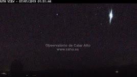 La última de las bolas de fuego detectadas por el Observatorio de Calar Alto.