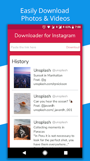 Photo & Video Downloader for Instagram -Repost App  screenshots 1