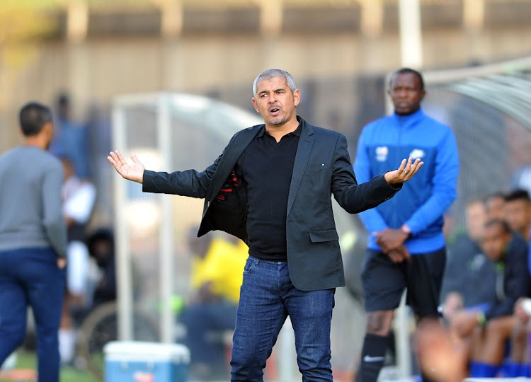 Clinton Larsen coach of Golden Arrows during the Absa Premiership match Maritzburg United and Golden Arrows on the 05 August 2018 at Harry Gwala Stadium.