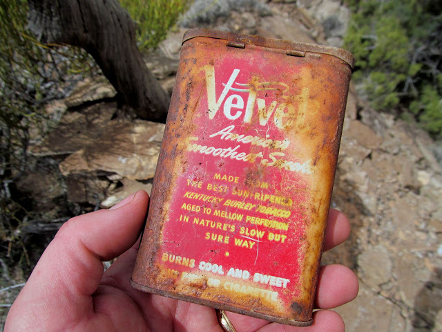 Tobacco tin with a mining claim inside