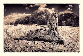 Photo: 'Rotting Away' is another IR photo from my recent 'Hulks' series with Topaz Black & White Effects (Split-toning & Border). B&W Effects is currently on offer at Topaz - see my website for Coupon Code. www.crhfoto.co.uk