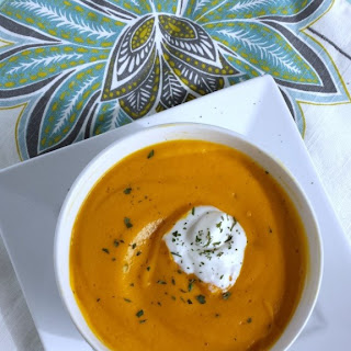 Baked Sweet Potato & Carrot Soup