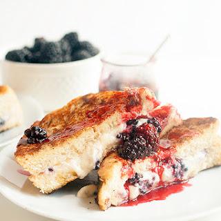 Mascarpone And Blackberry Stuffed French Toast