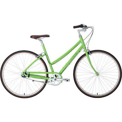 "Civia Lowry 8-Speed Internal Step-Thru Bike -26"", Aluminum, Lime Green/Gray"