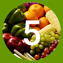 Five A Day - Fruit and Veg icon