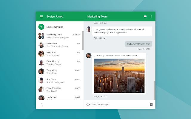 Google Hangouts chrome extension