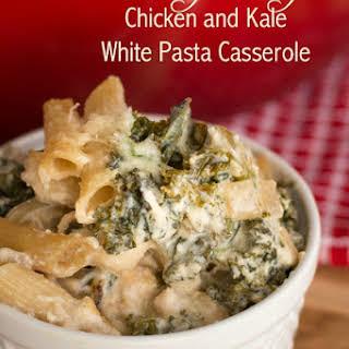 Chicken and Kale White Pasta Casserole.