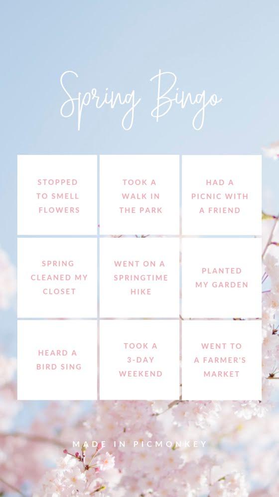 Spring Bingo - Facebook Story Template