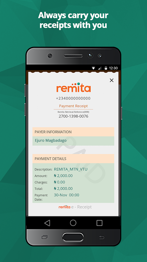 Remita- screenshot