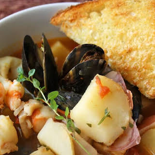 Fish Soup with Macaroni.