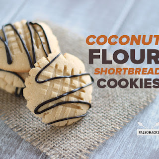 Coconut Flour Shortbread Cookies.