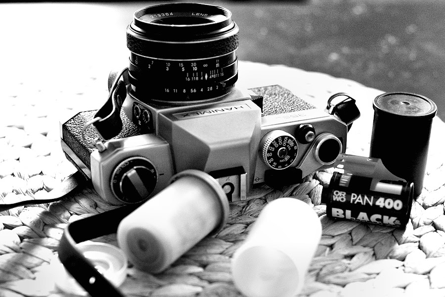 by Eigenart. Ich - Artistic Objects Other Objects ( contrast, old, black and white, hanimex, bw, orwo, slr, analog )