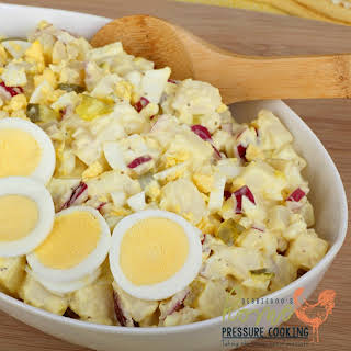 Quick and easy Potato salad in the Pressure cooker.