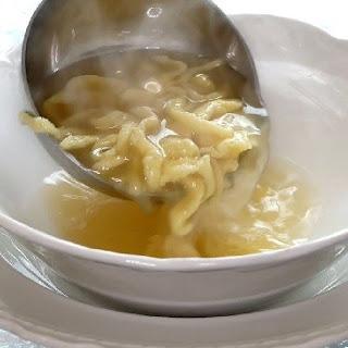 Chicken and Dumpling Soup.