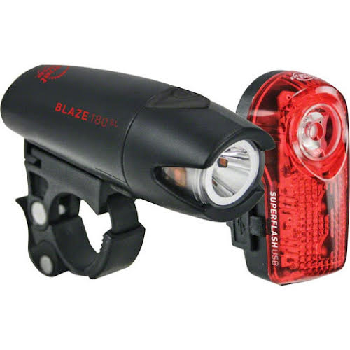 Planet Bike Blaze 180 SL USB Headlight w/ Superflash USB Taillight