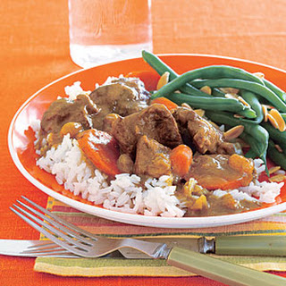 Curried Lamb Stew with Carrots.