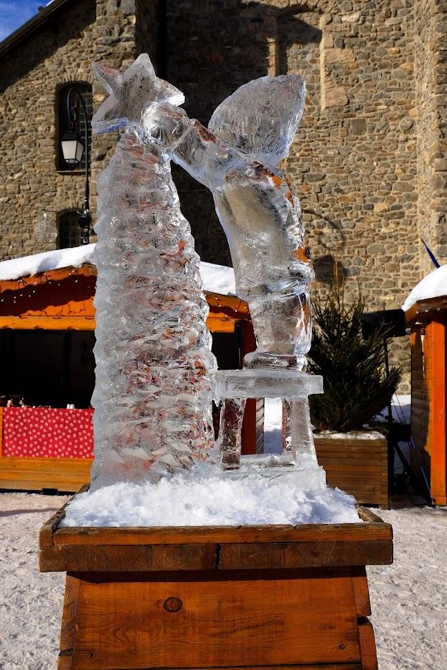 Escultura de gel