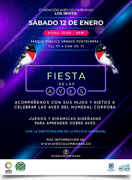 Fiesta de las aves, humedal Córdoba