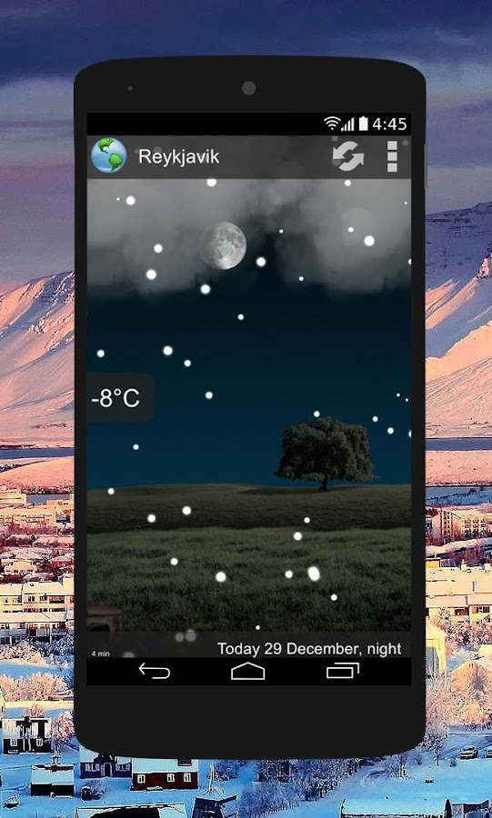 Animated Weather Widget&Clock- screenshot
