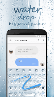 Water Drop Emoji Keyboard Theme for Facebook - náhled