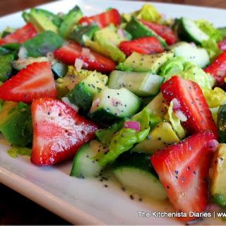 Avocado, Cucumber & Strawberry Chopped Salad