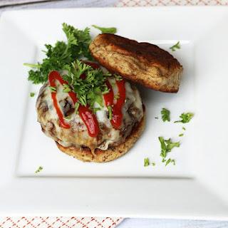 Low Carb Microwave Hamburger Bun.